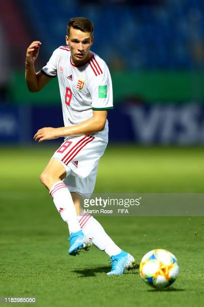 Samuel Major of Hungary runs with the ball during the FIFA U17 World Cup Brazil 2019 Group B match between Nigeria and Hungary at Estadio Olimpico de...