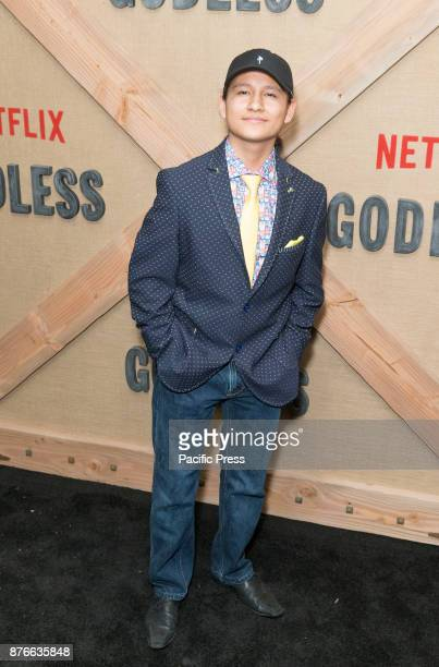 Samuel Marty attends Netflix Godless premiere at Metrograph
