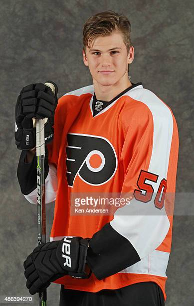 Samuel Morin of the Philadelphia Flyers poses for an NHLPA Rookie Showcase portrait at the Westin Harbour Castle on August 312015 in Toronto Ontario...