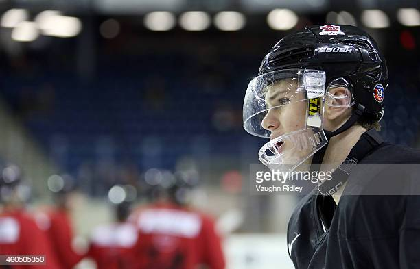 Samuel Morin skates during the Canada National Junior Team practice at the Meridian Centre on December 15 2014 in St Catharines Ontario Canada