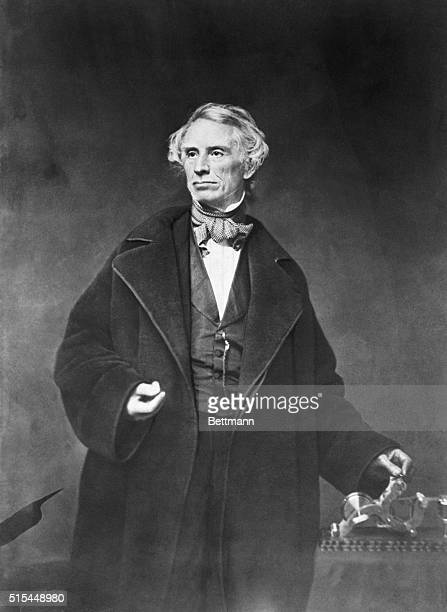 Samuel Morse American artist and inventor Photographed standing in a studio by Matthew Brady Undated photograph BPA2