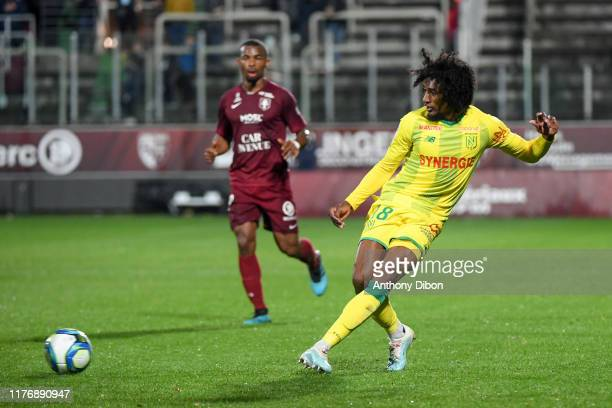 Samuel MOUTOUSSAMY of Nantes during the Ligue 1 match between FC Metz and FC Nantes at Stade Saint-Symphorien on October 19, 2019 in Metz, France.