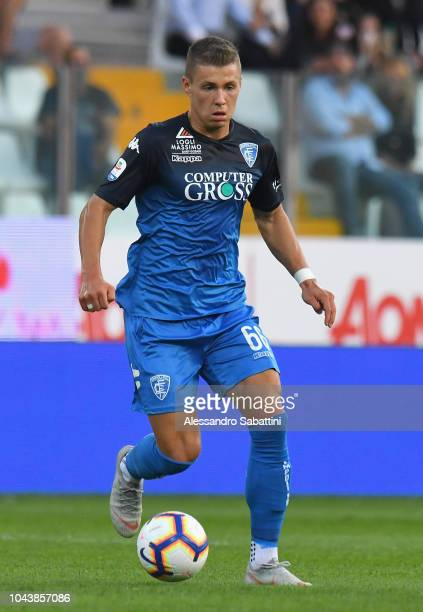 Samuel Mraz of Empoli Fc controls the ball during the Serie A match between Parma Calcio and Empoli at Stadio Ennio Tardini on September 30 2018 in...