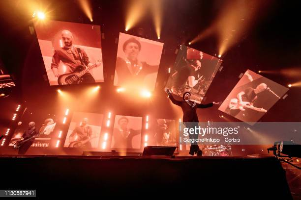 Samuel of Subsonica performs on stage at Mediolanum Forum on February 18, 2019 in Milan, Italy.