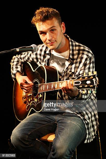 Samuel Preston performs at a Biz Session to launch his new album 'Whatever Forever' on August 4 2009 in London England