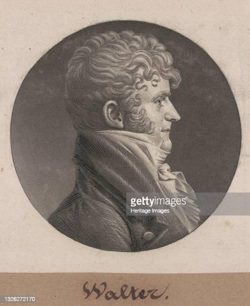 Samuel Purviance Walker, 1803. Artist Charles Balthazar Julien Févret de Saint-Mémin.