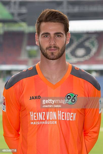Samuel Radlinger poses during a team presentation for Hannover 96 at HDIArena on July 13 2015 in Hanover Germany
