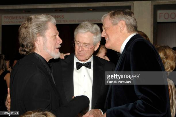 Samuel Ramey Charles Koch and David Koch attend New York City Opera's Theater Debut Celebration at Lincoln Center on November 5 2009 in New York