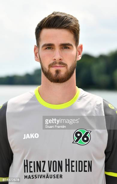 Samuel Sahin Raldinger of Hannover 96 poses during the team presentation at on July 14 2017 in Hanover Germany