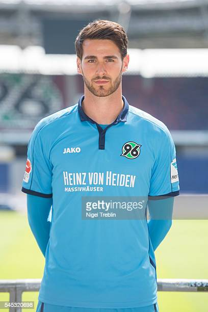 Samuel SahinRadlinger poses during the team presentation of Hannover 96 on July 7 2016 in Hanover Germany