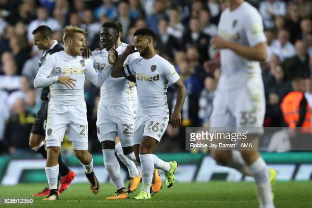 Samuel Saiz of Leeds United celebrates after scoring a goal to make it 31 during the Carabao Cup First Round match between Leeds United and Port Vale...
