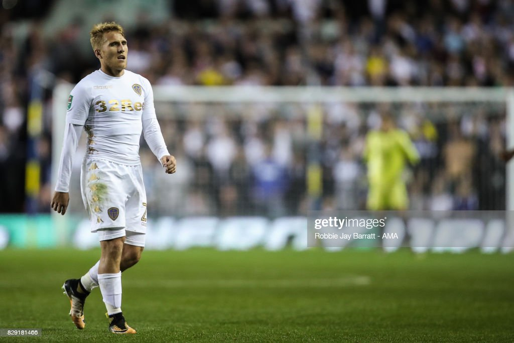 Samuel Saiz of Leeds United during the Carabao Cup First Round match between Leeds United and Port Vale at Elland Road on August 9, 2017 in Leeds, England.