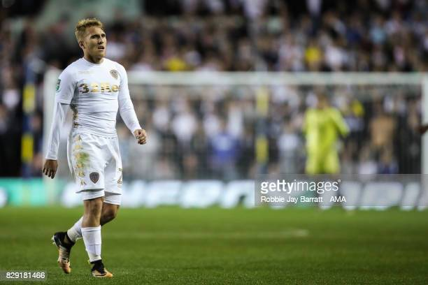 Samuel Saiz of Leeds United during the Carabao Cup First Round match between Leeds United and Port Vale at Elland Road on August 9 2017 in Leeds...
