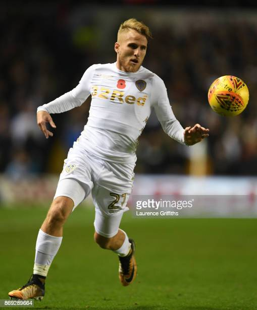Samuel Saiz of Leeds United in action during the Sky Bet Championship match between Leeds United and Derby County at Elland Road on October 31 2017...