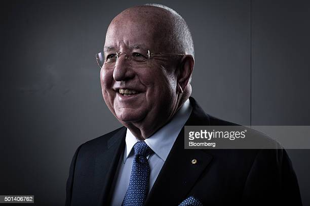 "Samuel ""Sam"" Walsh, chief executive officer of Rio Tinto Plc, poses for a photograph before a Bloomberg Television interview in London, U.K., on..."