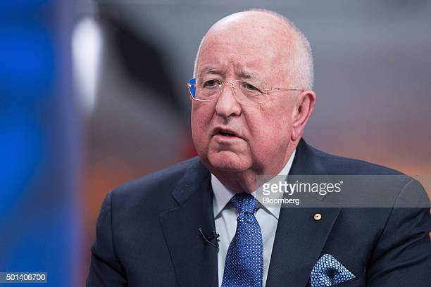 "Samuel ""Sam"" Walsh, chief executive officer of Rio Tinto Plc, speaks during a Bloomberg Television interview in London, U.K., on Monday, Dec. 14,..."