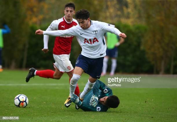 Samuel Shashoua of Tottenham Hotspur during Premier League 2 Div 1 match between Tottenham Hotspur Under 23s against Arsenal Under 23s at Tottenham...