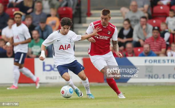 Samuel Shashoua of Tottenham in action during the preseason friendly match between Ebbsfleet United and Tottenham Hotspur at Stonebridge Road on July...