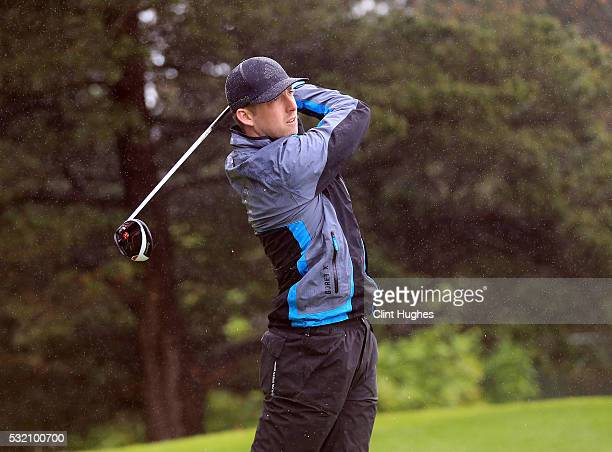 Samuel Shaw of Mellor and Townscliffe Golf Club plays a tee shot at the first hole during the PGA Assistants Championship North Qualifier at Hesketh...