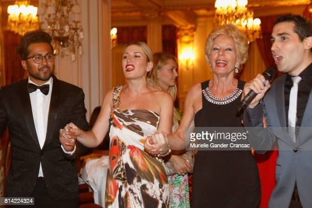 Samuel Sohebi Hofit Golan and Tina Waske von Reppert attend the Friends Of Sheba Medical Center 'DRINKDANCEDONATE' event at Hotel Hermitage on July...