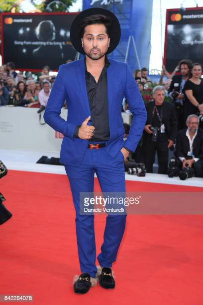 Samuel Sohebi walks the red carpet ahead of the 'The Leisure Seeker ' screening during the 74th Venice Film Festival at Sala Grande on September 3...