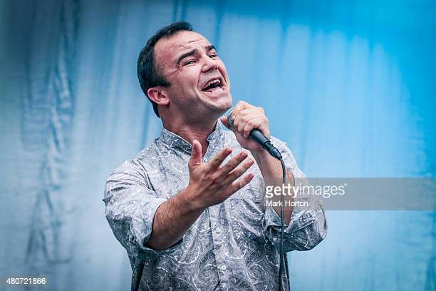 Samuel T Herring of Future Islands performs on Day 6 of the RBC Royal Bank Bluesfest on July 14 2015 in Ottawa Canada