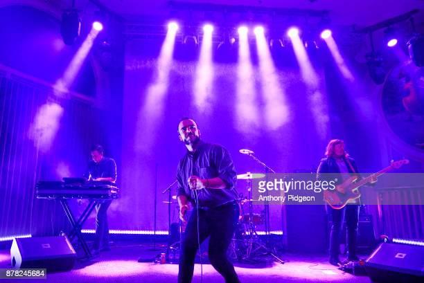 Samuel T Herring of Future Islands performs on stage at Crystal Ballroom Portland Oregon United States 21st September 2017