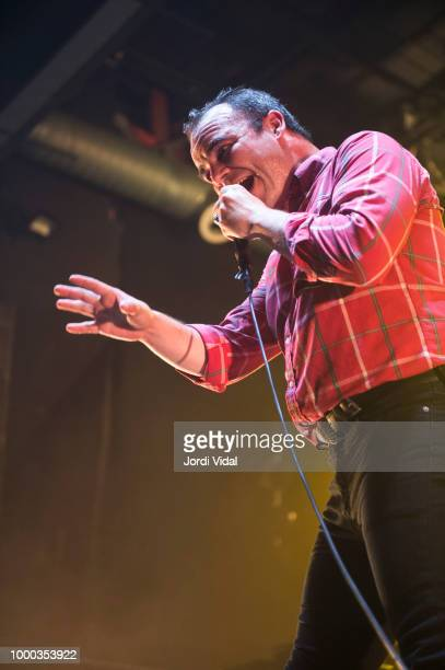Samuel T Herring of Future Islands performs on stage at Razzmatazz on July 16 2018 in Barcelona Spain