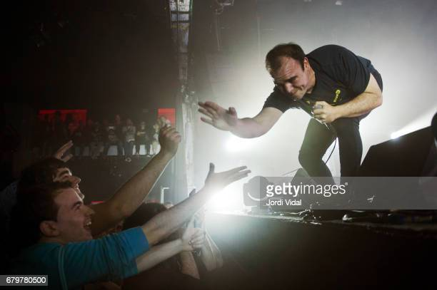 Samuel T Herring of Future Islands performs on stage at Razzmatazz on May 6 2017 in Barcelona Spain