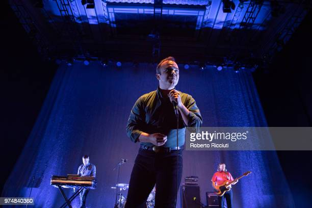 Samuel T. Herring of Future Islands performs on stage at Usher Hall on June 14, 2018 in Edinburgh, Scotland.