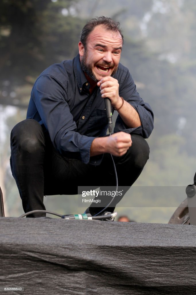 Samuel T. Herring of Future Islands performs on the Twin Peaks Stage during the 2017 Outside Lands Music And Arts Festival at Golden Gate Park on August 11, 2017 in San Francisco, California.