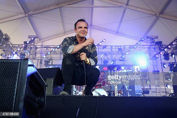 Samuel T Herring of Future Islands performs onstage during 2015 Governors Ball Music Festival at Randall's Island on June 6 2015 in New York City