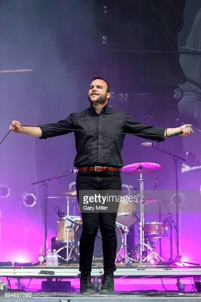 Samuel T Herring performs in concert with Future Islands during day 3 of the Bonnaroo Music Arts Festival on June 10 2017 in Manchester Tennessee