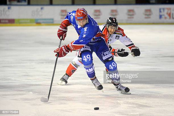 Samuel TAKAC of Lyon during League Magnus between Lyon Lions and Bordeaux Boxers on November 25 2016 in Lyon France