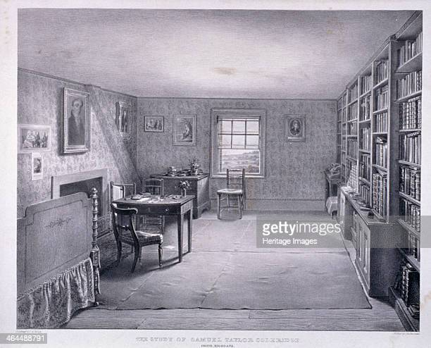 Samuel Taylor Coleridge's study in Highgate Haringey London c1835 The study is at a residence owned by James Gillman