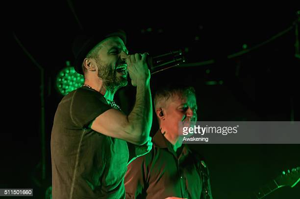 Samuel Umberto and Massimiliano Casacci of Subsonica performs on Rivolta in Venice on February 20 2016 in Venice Italy
