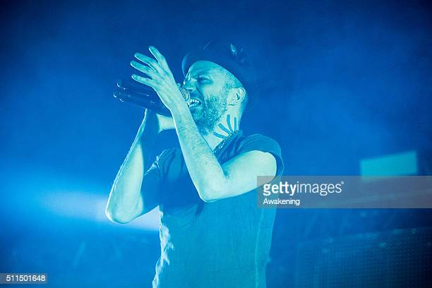 Samuel Umberto of Subsonica performs at Rivolta in Venice on February 20 2016 in Venice Italy