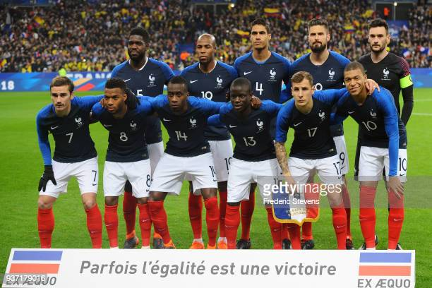 Samuel Umtiti defender Djibril Sidibe defender Raphael Varane defender Olivier Giroud forward Hugo Lloris goalkeeper Antoine Griezmann forward Thomas...
