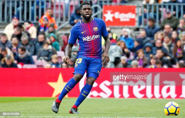 Samuel Umtiti during the La Liga match between FC Barcelona v Real Club Celta de Vigo in Barcelona on December 02 2017 Photo Joan...