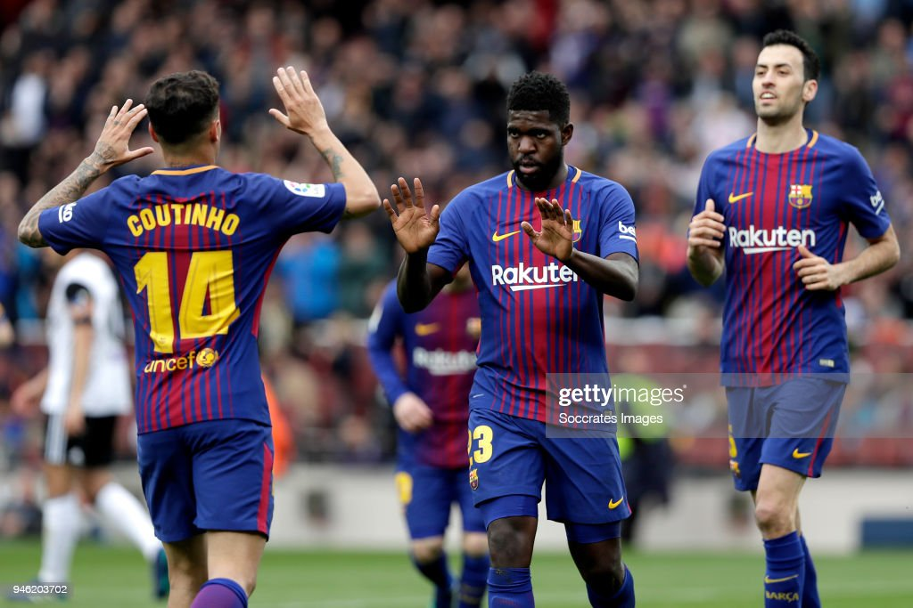 FC Barcelona v Valencia - La Liga Santander : News Photo