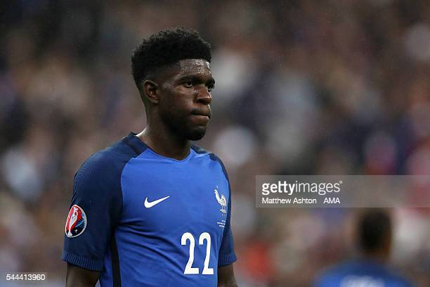 Samuel Umtiti of France during the UEFA Euro 2016 quarter final match between France and Iceland at Stade de France on July 3 2016 in Paris France