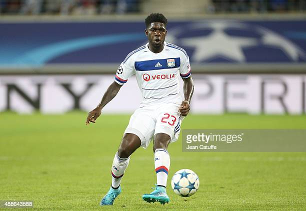 Samuel Umtiti of Lyon in action during the UEFA Champions League match between KAA Ghent and Olympique Lyonnais at Ghelamco Arena on September 16...