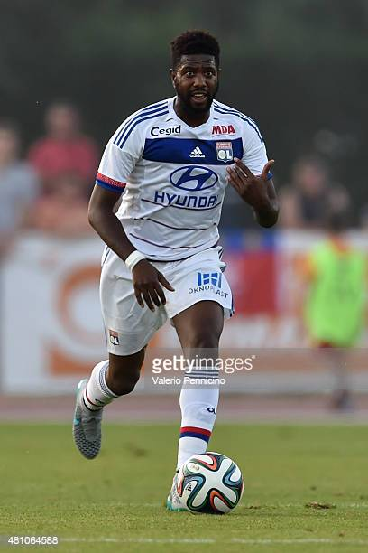 Samuel Umtiti of Olympique Lyonnais in action during the preseason friemdly match between Olympique Lyonnais and PSV Eindhoven on July 15 2015 in...