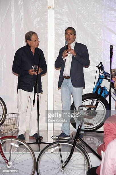 Samuel Waxman M.D. And Marc J. Leder attend the Samuel Waxman Cancer Research Foundation 11th Annual A Hamptons Happening on July 11, 2015 in...