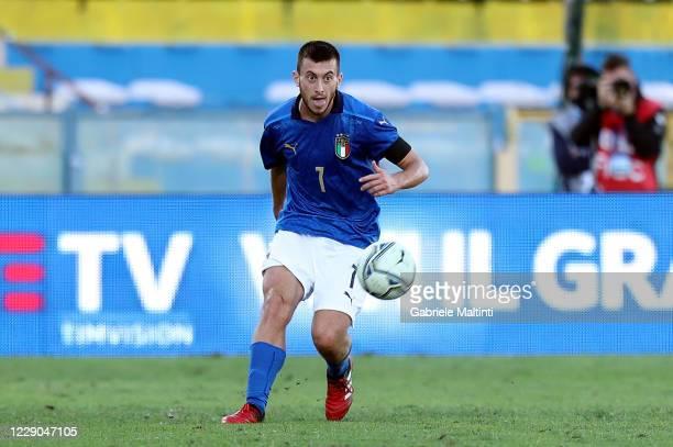 Samuele Birindelli of Italy U21 in action during the UEFA Euro Under 21 Qualifier match between Italy U21 and Ireland U21 at Arena Garibaldi on...