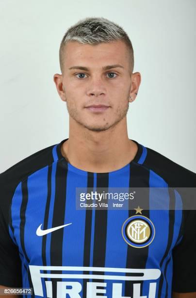 Samuele Longo of FC Internazionale poses on July 8 2017 in Reischach near Bruneck Italy