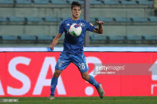 Samuele Ricci of Empoli FC in action during the Serie B match between Empoli FC and Pisa at Stadio Carlo Castellani on February 16, 2020 in Empoli,...