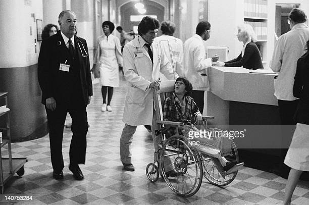 ST ELSEWHERE Samuels and the Kid Episode 5 Pictured David Birney as Dr Ben Samuels Jeremy Licht as Robbie Durant Photo by Jack Hamilton/NBCU Photo...