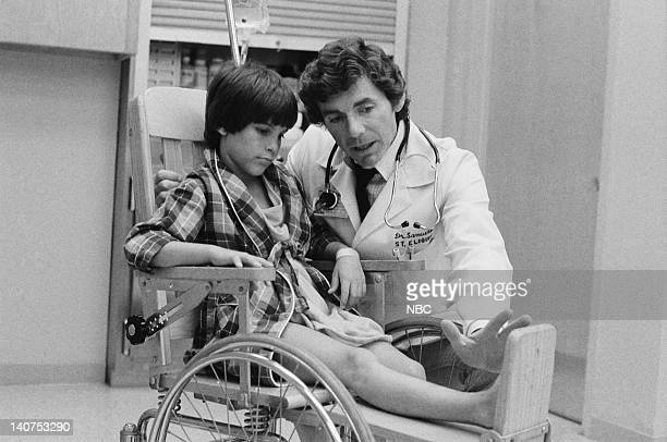 ST ELSEWHERE 'Samuels and the Kid' Episode 5 Pictured Jeremy Licht as Robbie Durant David Birney as Dr Ben Samuels Photo by Jack Hamilton/NBCU Photo...