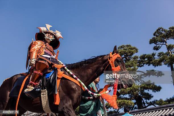 Samurai em Jidai Matsuri festival de Quioto
